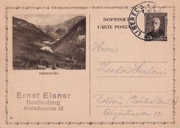 TCHECOSLOVAQUIE 1931    ENTIER POSTAL/GANZSACHE/POSTAL STATIONERY CARTE ILLUSTREE DE LIBEREC - Postcards