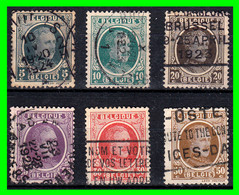 BELGICA .- () -&- () 6 SELLOS AÑO 1922 -1925 KING ALBERT - Used Stamps