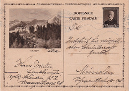TCHECOSLOVAQUIE 1931    ENTIER POSTAL/GANZSACHE/POSTAL STATIONERY CARTE ILLUSTREE - Postcards