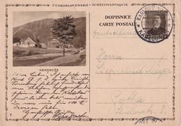 TCHECOSLOVAQUIE 1936    ENTIER POSTAL/GANZSACHE/POSTAL STATIONERY CARTE ILLUSTREE DE KARLSBAD - Postcards