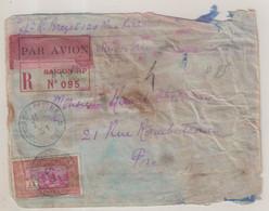 INDOCHINE : PA . ACCIDENTE . DU 07/06 . SANS GRIFFE . ARRIVEE A MARSEILLE LE 01/07 . 1931 . - Storia Postale