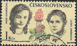 CZECHOSLOVAKIA 1973 Czechoslovak Martyrs During World War II - 1k. Marie Kuderikova And Jozka Jaburkova FU - Used Stamps