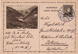 TCHECOSLOVAQUIE 1937    ENTIER POSTAL/GANZSACHE/POSTAL STATIONERY CARTE ILLUSTREE DE KOMOTAU - Postcards