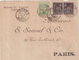"""MAROC : """" TANGER """" . POUR FRANCE . 1902 . - Covers & Documents"""