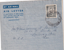 RHODESIE DU SUD 1948     ENTIER POSTAL/GANZSACHE/POSTAL STATIONERY PLI AERIEN DE BULAWAYO - Southern Rhodesia (...-1964)