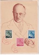 TCHECOSLOVAQUIE 1945 CARTE SOUVENIR DE PRAHA - Covers & Documents