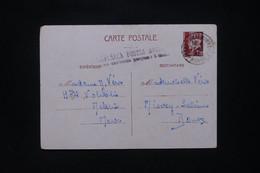 MAROC - Entier Postal Pétain De Meknés Pour La France En 1944 Avec Griffe De Surtaxe Aérienne De Casablanca - L 109103 - Covers & Documents