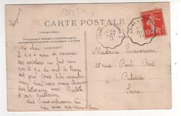"""Cachet Convoyeur Ligne  """" Reims à Chalons """" Ind 0 / CP , Carte Du 24/10//1911 , De Reims - Covers & Documents"""