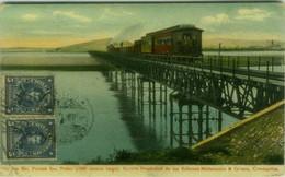 CHILE - RIO BIO BIO - PUENTE SAN PEDRO / TREN - EDIT MATTENSOHN & GRIMM CONCEPTION - MAILED 1912 (143) - Chile