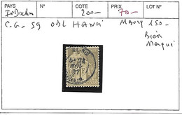 INDOCHINE C.G N° 59 OBL HANOI BIEN MARQUE - Usados