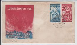 Brief Ludwigshafen Souvenir Cover Erinnerungsbrief Hilfswerk Ludwigshafen 1948 - Covers & Documents