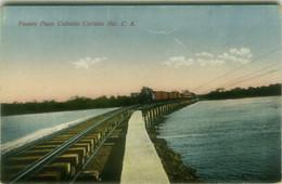 CHILE - PUENTE PASO CABALLO CORINTO NIC. C.A. / TREN - FOTO LEON - 1910s (144) - Chile