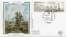Lisa 2001 55éme Salon Philatélique D'automnee 08/11/2001 Paris éd Cérès EPP - Gedenkstempels