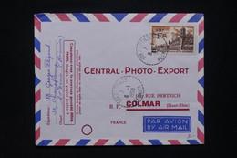 RÉUNION - Affranchissement Surchargé CFA De Ste Clotilde Sur Enveloppe Commerciale Pour La France En 1958 - L 109127 - Covers & Documents