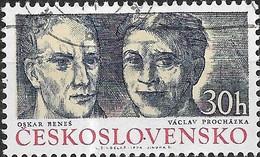 CZECHOSLOVAKIA 1974 Czechoslovak Partisan Heroes - 30h - Oskar Benes And Vaclav Prochazka FU - Used Stamps