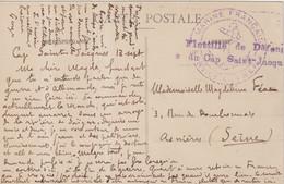 """INDOCHINE : FM . GRIFFE . """" FLOTILLE DE DEFENSE DU CAP SAINT JACQUES """" . 1914/18 . - Storia Postale"""