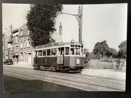 Photo Originale De J.BAZIN :Tramways De LILLE ( C.G.I.T./T.E.L.B) Lignes I Et I (barré) Calvaire De Lomme En 1953 C - Trenes