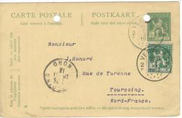 Carte BELGIQUE N° 110 Timbre Et Entiers Postaux - 1912 Pellens