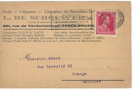 Carte BELGIQUE N° 428 Y & T - Covers & Documents