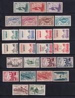 1939/1948 - MAROC - POSTE AERIENNE - YVERT N°PA 43/67 ** MNH - COTE 2022 = 56.5 EUR. - Airmail