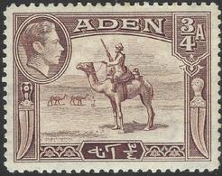 Aden. 1939-48 KGVI. ¾a MH. SG17 - Aden (1854-1963)