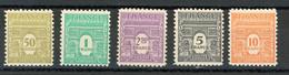 FRANCE - ARC DE TRIOMPHE - N° Yvert 623+624+626+628+629** - 1944-45 Arc Of Triomphe