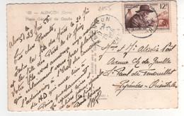 Timbre Yvert N° 1055,  J H Fabre,  Sur Cp , Carte Du 29/05/1956 De Alençon ( Pli D'angle ) - Brieven En Documenten