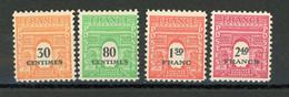 FRANCE - ARC DE TRIOMPHE - N° Yvert 702+706+708+710** - 1944-45 Arc Of Triomphe