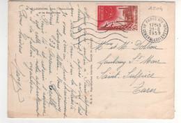 Timbre Yvert N° 1204  Marcoule ,  Sur Cp , Carte Du 21/08/1959 De Paris - Brieven En Documenten