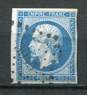 22648 FRANCE N°14° 20c. Napoléon III  P.C 3015 St Calais (71)  1854  B/TB - 1853-1860 Napoleon III