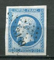 22649 FRANCE N°14B° 20c. Napoléon III  P.C 3169 St Loup-S-Angronne  1860  B/TB - 1853-1860 Napoleon III