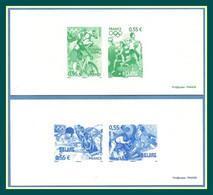 Gravure N° 4222 à 4225 Complet JO PEKIN 2008 Proof France Jeux Olympiques Cheval Vélo Judo Escrime Tennis .. - Verano 2008: Pékin