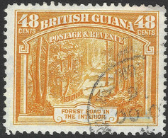 British Guiana. 1938-52 KGVI. 48c Used. P12½ SG 314 - British Guiana (...-1966)