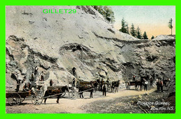 WALTON, NOVA SCOTIA - PLASTER QUARRY - ANIMATED WITH PEOPLES - TRAVEL IN 1913 -  MARITIME POST CARD CO - - Other