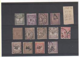 FR 1908-26 LOT DE TAXES Oblitérés - 1859-1955 Used