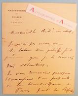 L.A.S 1873 Ernest CAMESCASSE - Police De Paris - Rixe Filles Rue De Chateaudun - Nà à Brest Finistère Lettre Autographe - Autographes