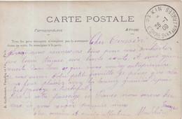 """CHINE Fr : CP . OBL . """" PEKIN CORRES Ces AUX ARMEES """" . EN ARRIVEE D'UNE CP DE FRANCE . 1909 . - Briefe U. Dokumente"""