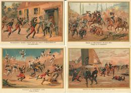 CHROMOS IMAGES MILITARIA SCENES DE GUERRE De 1870 -ILLUSTRATEUR G.GERMAIN-LOT DE 19 CHROMOS - Zonder Classificatie