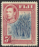 Fiji. 1938-55 KGVI. 5d Blue And Red Used. SG 258 - Fiji (...-1970)