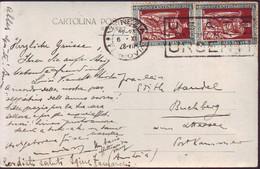 ITALIA - VENEZIA - EMANUELE FILIBERTO  2x30 Cen. Sa. 228 - 1928 - Marcophilia