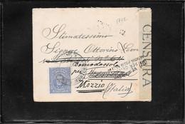 Uruguay 1918, Censored Cover Montevideo To Mozzio, Italy ( Ref 2676) - Uruguay