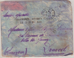 "INDOCHINE : PA . OBL . "" DALAT "" . COURRIER ACCIDENTE . 7 JUIN 1931 . ARRIVEE A MARSEILLE . - Storia Postale"