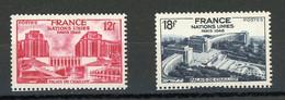 FRANCE -  ONU À PARIS - N° Yvert  818+819** - Unused Stamps
