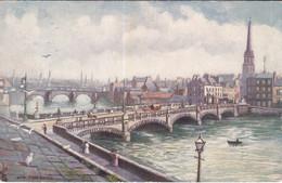 "AYR, Ayrshire, Scotland, 1900-1910s; ""The Twa Brigs"", The New Bridge, TUCK No. 7417 - Ayrshire"