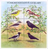 Turkmenistan 2002, Fauna, Birds, Block Of 6v - Turkmenistan