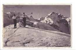 28835 -  Joyeux Noël Skieurs Admirant Les Alpes Suisses - Sonstige