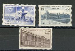 FRANCE - UPU - N° Yvert  780+781+783** - Unused Stamps