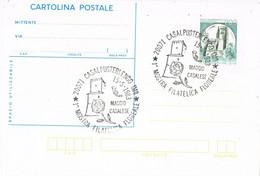 42080. Tarjeta Entero Postal CASALPUSTERLENGO (Mi) Italia 1983. Mostra Filatelica, Flowers, Flores - 1981-90: Storia Postale