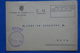 AD14 ESPAGNE   LETTRE DEVANT   1972 LA CORUNA POUR NOYA   + AFFRANCH.  PLAISANT - 1971-80 Storia Postale