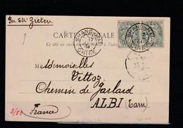 CARTE POSTALE DE 1904 POUR ALBI - Briefe U. Dokumente